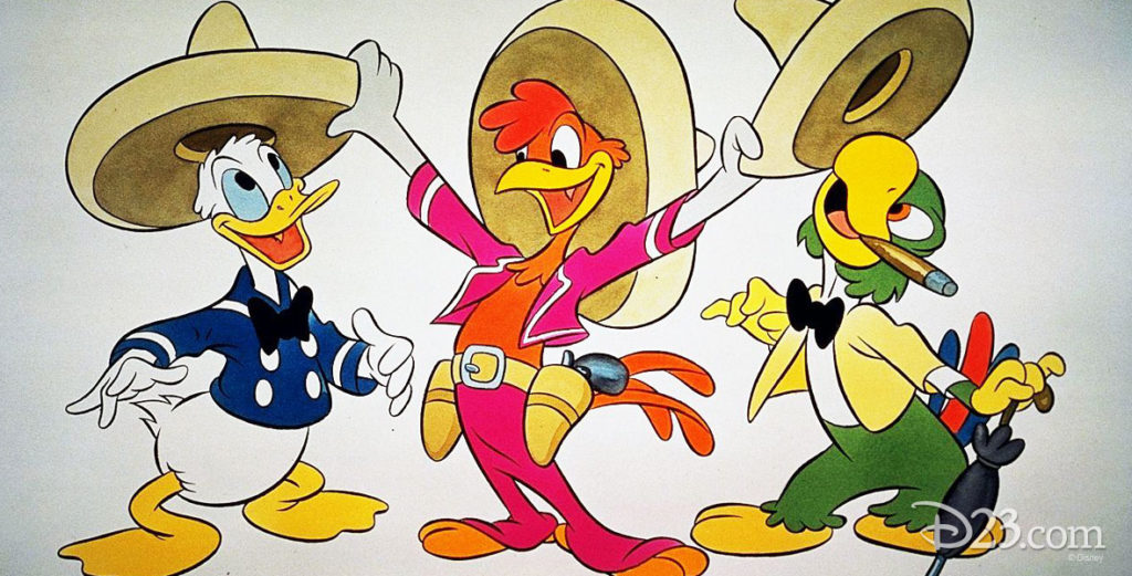 Picture of 3 Cabarellos (Donald, José, and Panchito)